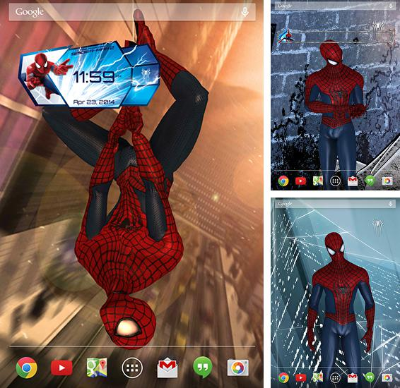 In addition to live wallpaper Alien worlds for Android phones and tablets, you can also download Amazing Spider-man 2 for free.