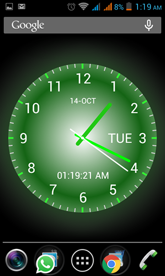 Kostenloses Android-Live Wallpaper Analoguhr. Vollversion der Android-apk-App Analog clock für Tablets und Telefone.