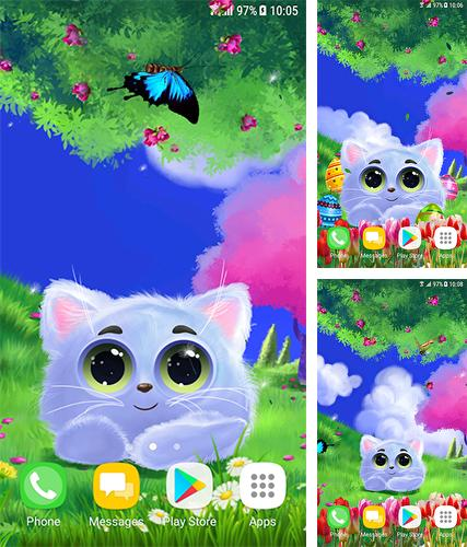 Download live wallpaper Animated cat for Android. Get full version of Android apk livewallpaper Animated cat for tablet and phone.
