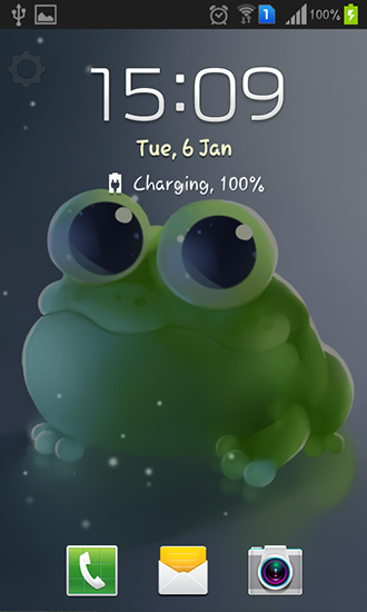 Screenshots of the Apple frog for Android tablet, phone.
