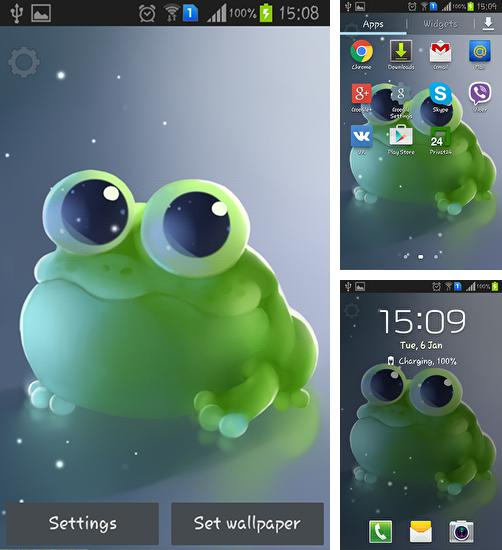 In addition to live wallpaper Picturesque nature for Android phones and tablets, you can also download Apple frog for free.