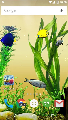 Screenshots of the Aquarium for Android tablet, phone.