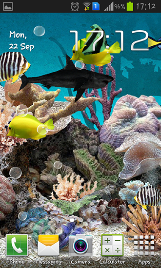 Aquarium 3D für Android spielen. Live Wallpaper Aquarium 3D kostenloser Download.