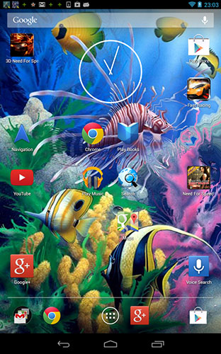 Screenshots of the Aquarium 3D by Shyne Lab for Android tablet, phone.