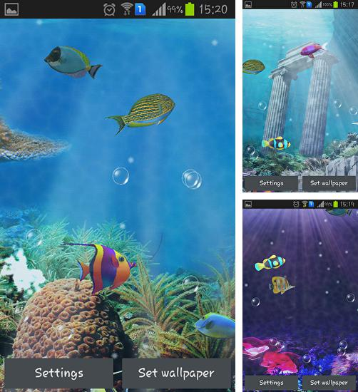 In addition to live wallpaper Snowman for Android phones and tablets, you can also download Aquarium and fish for free.