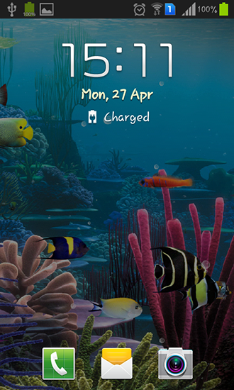 Screenshots of the Aquarium by Cowboys for Android tablet, phone.