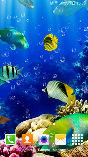 Aquarium by Top Live Wallpapers für Android spielen. Live Wallpaper Aquarium kostenloser Download.