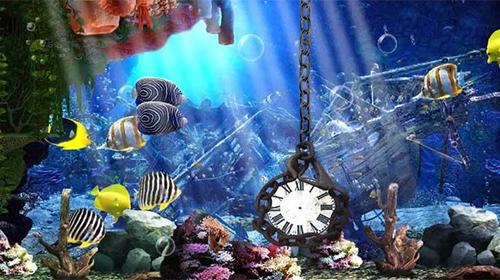 Aquarium Clock Live Wallpaper For Android Aquarium Clock Free