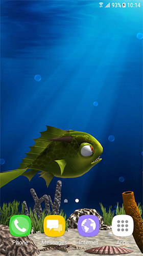 Screenshots of the Aquarium fish 3D by BlackBird Wallpapers for Android tablet, phone.