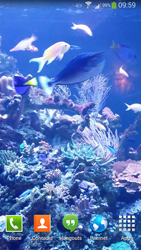 Screenshots of the Aquarium HD 2 for Android tablet, phone.
