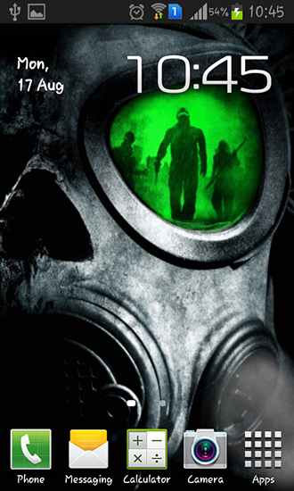 Kostenloses Android-Live Wallpaper Armee: Gasmaske. Vollversion der Android-apk-App Army: Gas mask für Tablets und Telefone.