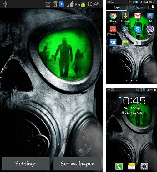 In addition to live wallpaper Greece night for Android phones and tablets, you can also download Army: Gas mask for free.