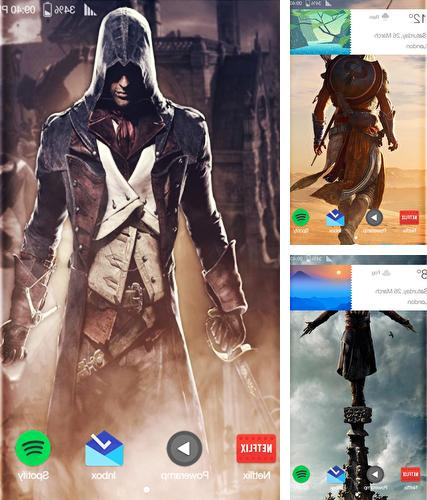 Kostenloses Android-Live Wallpaper Assassins Creed. Vollversion der Android-apk-App Assasins creed für Tablets und Telefone.
