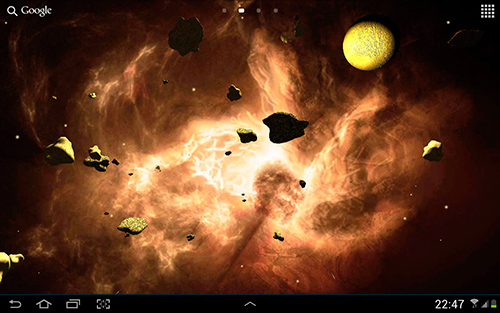 Screenshots of the Asteroids 3D for Android tablet, phone.