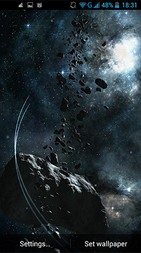 Screenshots of the Asteroids by LWP World for Android tablet, phone.