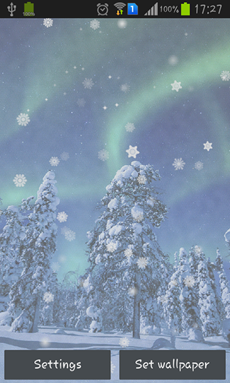 Screenshots of the Aurora: Winter for Android tablet, phone.