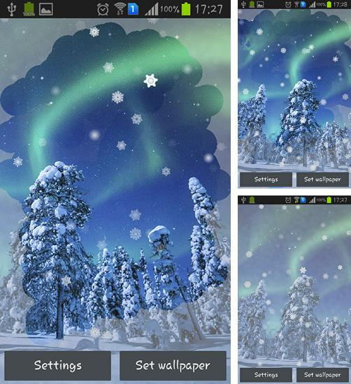 In addition to live wallpaper Ants for Android phones and tablets, you can also download Aurora: Winter for free.