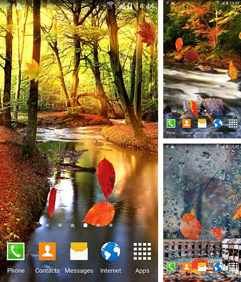 In addition to live wallpaper Waterfall: Clock for Android phones and tablets, you can also download Autumn forest for free.