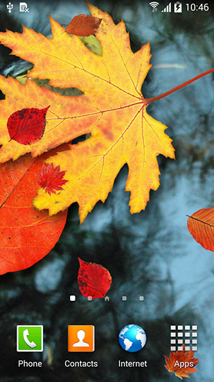 Screenshots von Autumn leaves für Android-Tablet, Smartphone.