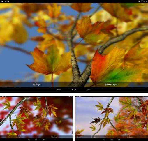 In addition to live wallpaper New Year 2015 for Android phones and tablets, you can also download Autumn leaves 3D by Alexander Kettler for free.