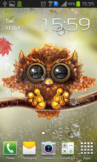 Download Autumn little owl - livewallpaper for Android. Autumn little owl apk - free download.