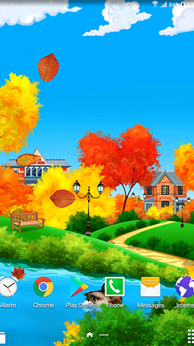 Screenshots of the Autumn sunny day for Android tablet, phone.