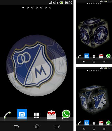 Download live wallpaper Ball 3D: Millonarios for Android. Get full version of Android apk livewallpaper Ball 3D: Millonarios for tablet and phone.