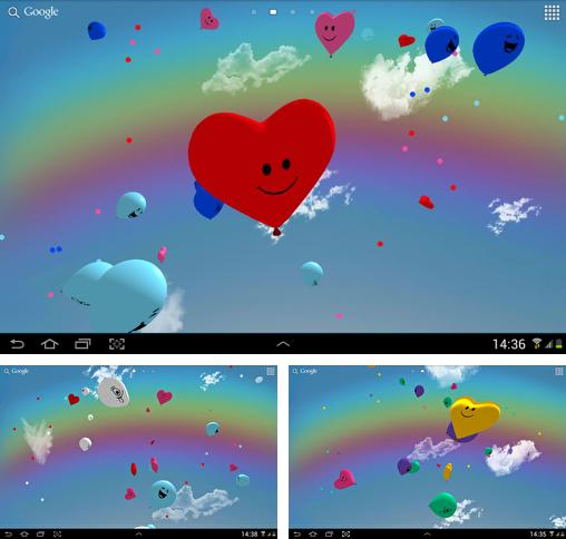 In addition to live wallpaper Golden lion for Android phones and tablets, you can also download Balloons 3D for free.