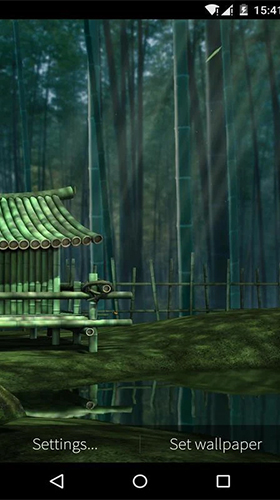 Screenshots of the Bamboo house 3D for Android tablet, phone.