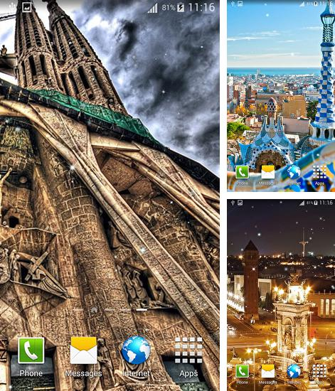 In addition to live wallpaper Luma for Android phones and tablets, you can also download Barcelona for free.