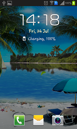 Screenshots of the Beach by Amax lwps for Android tablet, phone.