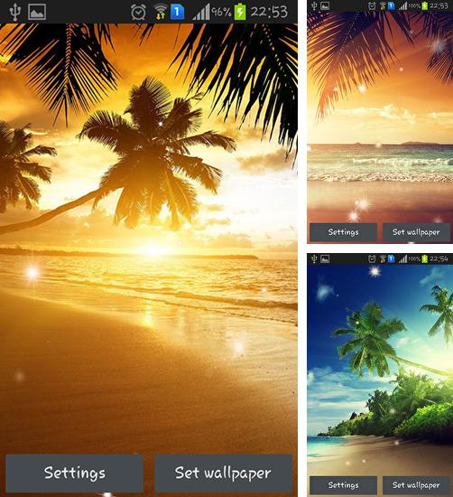 In addition to live wallpaper New Year 2015 for Android phones and tablets, you can also download Beach sunset for free.
