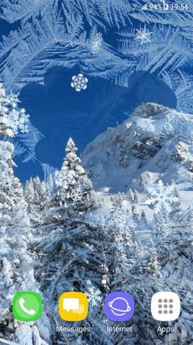 Screenshots von Beautiful winter by Amax LWPS für Android-Tablet, Smartphone.