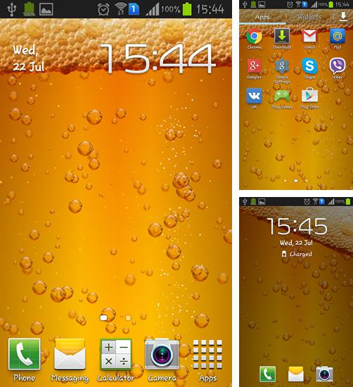 In addition to live wallpaper Jasmine for Android phones and tablets, you can also download Beer for free.