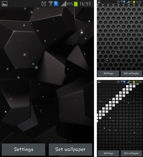 In addition to live wallpaper Winter grass for Android phones and tablets, you can also download Black by Jango lwp studio for free.