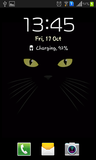 Screenshots of the Black cat for Android tablet, phone.