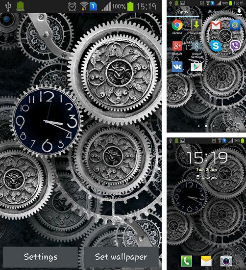 In addition to live wallpaper Christmas snow by live wallpaper HongKong for Android phones and tablets, you can also download Black clock by Mzemo for free.