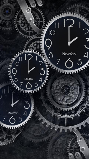 Screenshots of the Black Clock for Android tablet, phone.