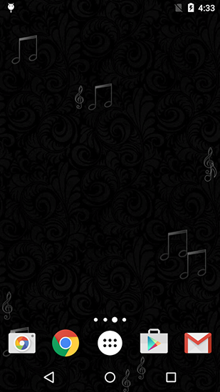 Screenshots of the Black patterns for Android tablet, phone.