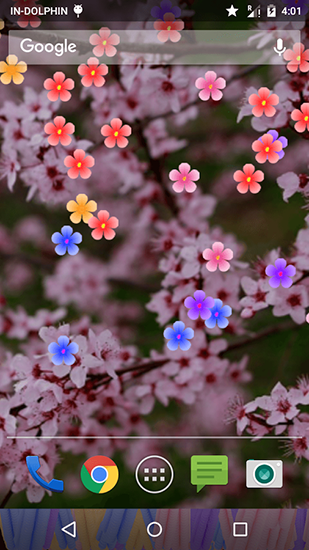 Screenshots of the Blossom for Android tablet, phone.