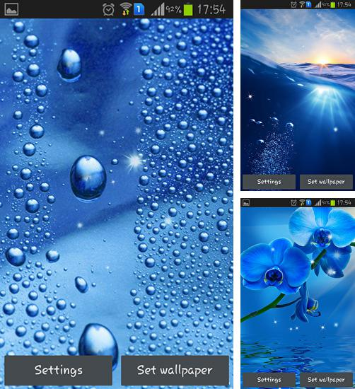 In addition to live wallpaper Pixel rain for Android phones and tablets, you can also download Blue for free.