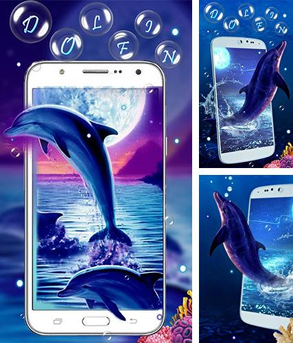Kostenloses Android-Live Wallpaper Blauer Delphin. Vollversion der Android-apk-App Blue dolphin by Live Wallpaper Workshop für Tablets und Telefone.