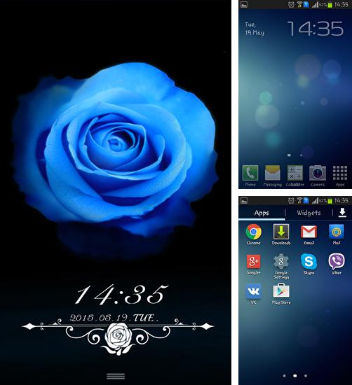 In addition to live wallpaper Winter snow clock for Android phones and tablets, you can also download Blue enchantress for free.