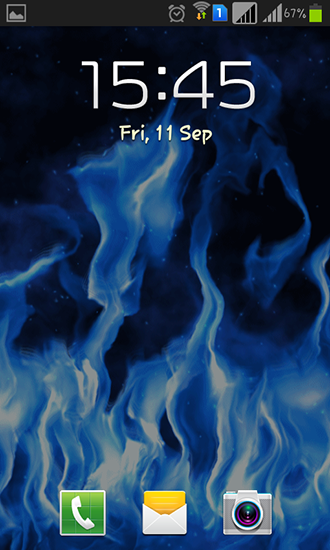 Screenshots of the Blue flame for Android tablet, phone.