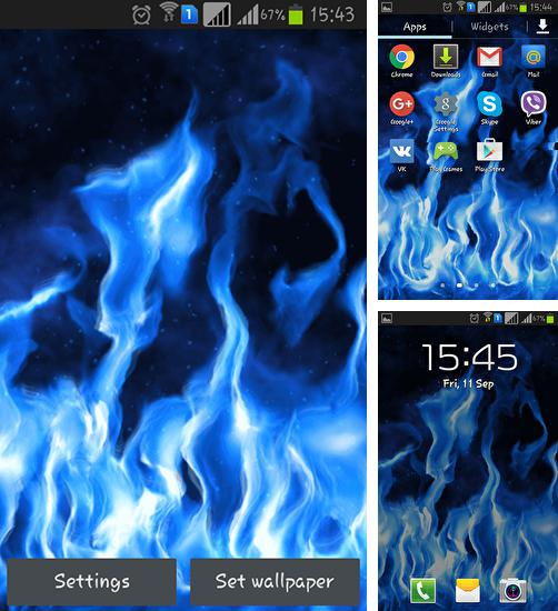 In addition to live wallpaper Cat HD by TeamStoS for Android phones and tablets, you can also download Blue flame for free.