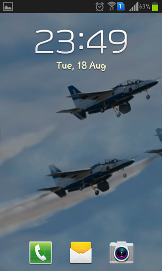 Screenshots of the Blue impulse for Android tablet, phone.