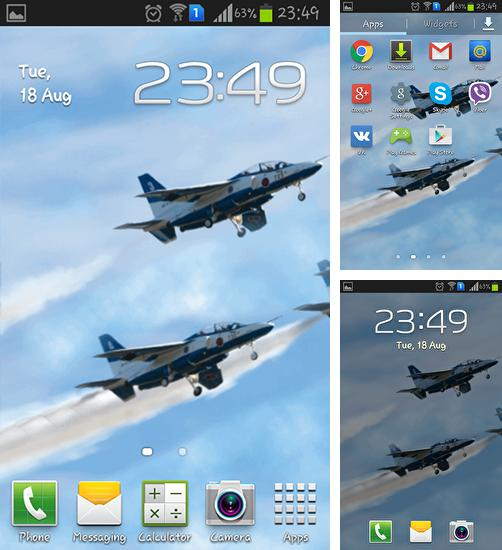 In addition to live wallpaper Rainy day for Android phones and tablets, you can also download Blue impulse for free.
