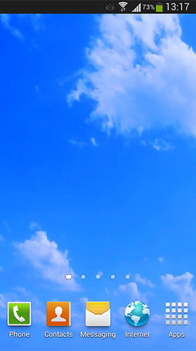 Screenshots of the Blue sky for Android tablet, phone.