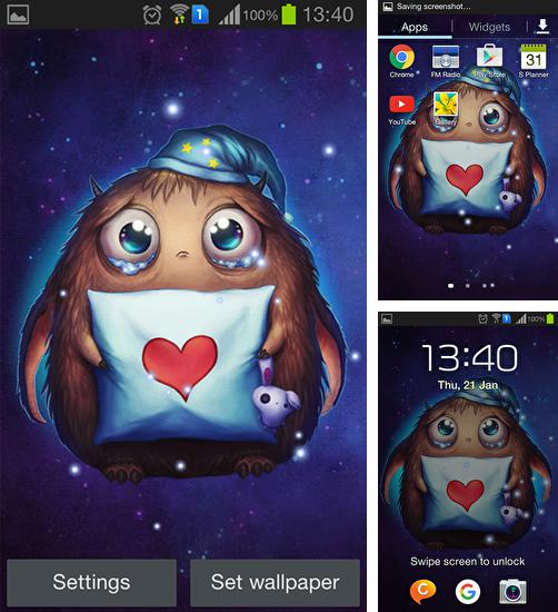 In addition to live wallpaper Cute kitten for Android phones and tablets, you can also download Booboo for free.