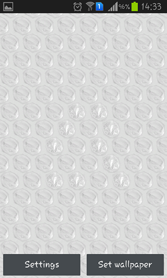 Screenshots of the Bubble wrap for Android tablet, phone.